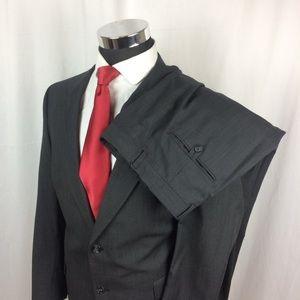 Hart Schaffner Mens 44R Suit Wool Grey Pants 40x32